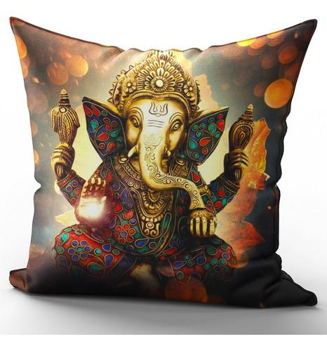 Imagem 1 de 2 de Capa De Almofada 40x40cm Hinduísmo Ganesha Mod 4