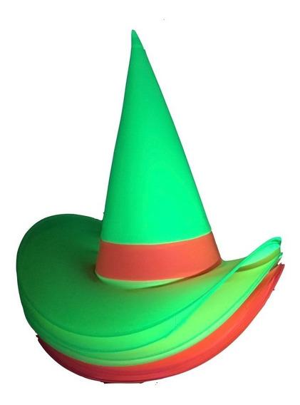 Sombrero Bruja Fluo Tela Jersey X 4 Gorros Carioca Sombrero