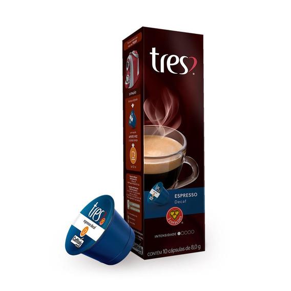Cápsula De Café Três Corações Espresso Decaf 10 Cápsulas