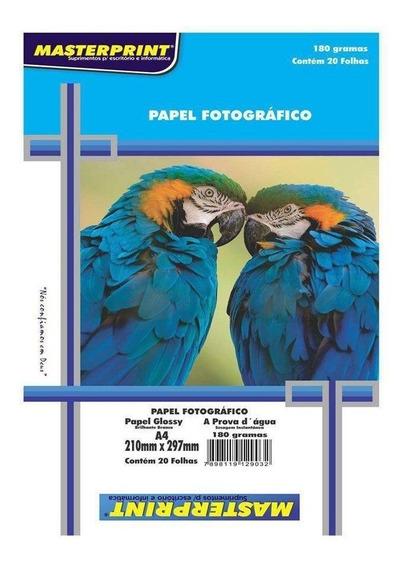 Papel Foto Masterprint A4 180g C/20f