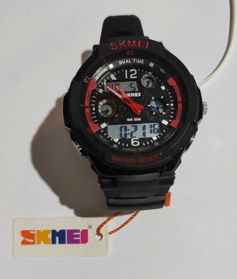 Relógio Esportivo Skmei 0931 Masculino Preto/vermelho