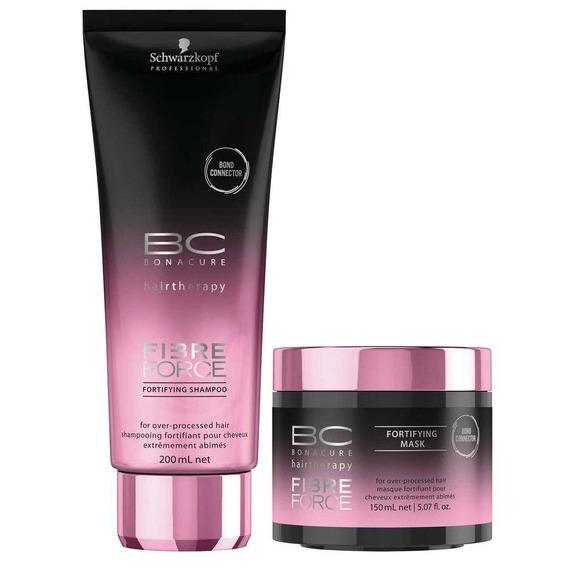 Kit Schwarzkopf Bc Fibre Force Shampoo 200ml + Máscara 150ml