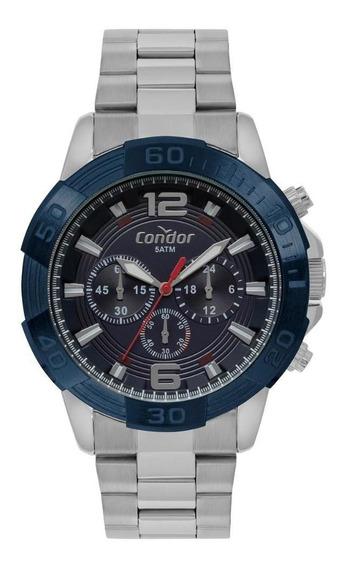 Relógio Masculino Condor Covd54ba/3a 48mm Aço Prata