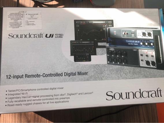 Mesa Mixer Digital Soundcraft Ui12