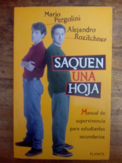 Libro Saquen Una Hoja De Pergolini Y Rozitchner (17)
