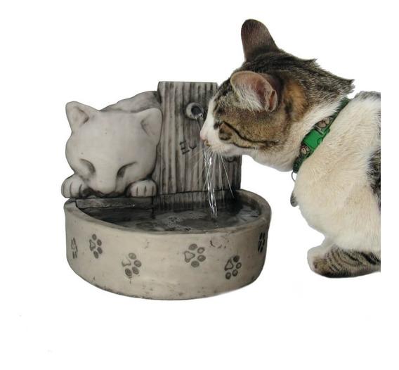 1 - Bebedouro Gato Rosa + 1 Bebedouro Para Gato Cerâmica