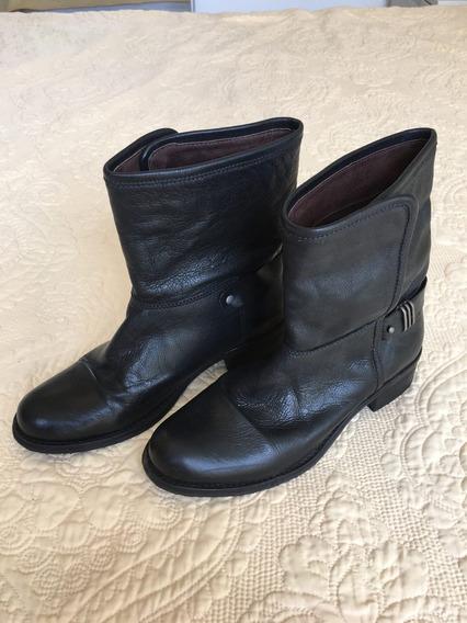 Bota Preta Via Mia - Tamanho 35 - Unkle Boot