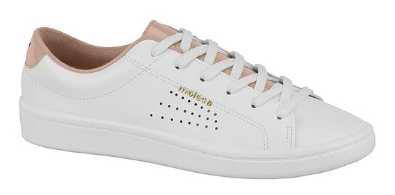 Tenis Feminino Moleca Branco 5657.208 Cadarço