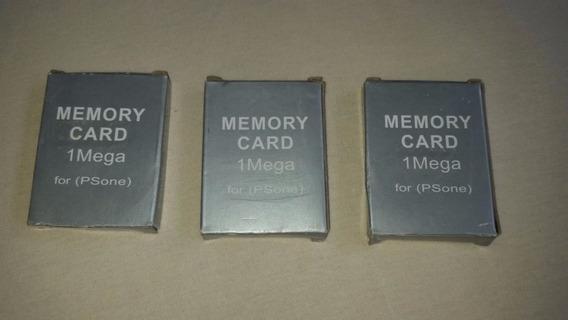 Memory Card Ps1 1 Mega - Kit 3 Unidades