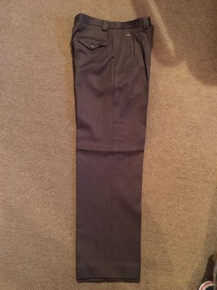 Pantalon Pinzado De Vestir Marron Yves Saint Laurent Talle40