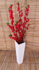 Vaso Flores Artificiais Vermelhas Decorar Dia Dos Namorados