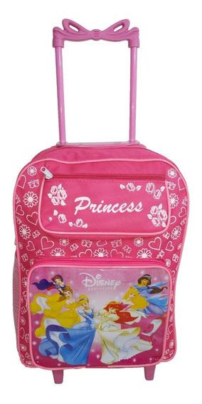 Mochila Infantil Princesa De Rodinha Princesas