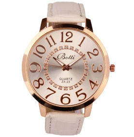 Relógio Feminino Quartzo Pulseira De Couro Redondo
