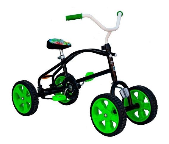 Cuatriciclo A Pedal Con Cadena Antivuelco Infantil Si
