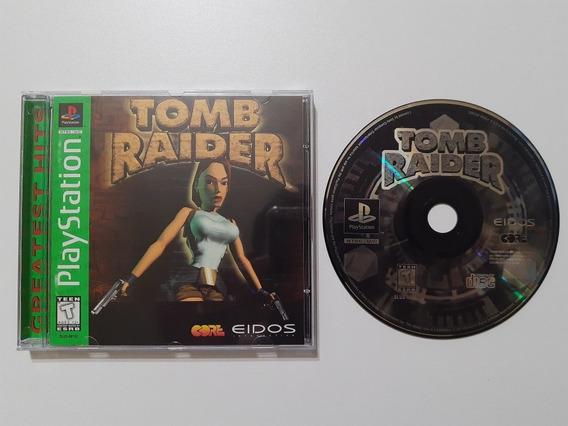 Tomb Raider Play 1 Americano Completo!! Raríssimo!! Jogaço!!