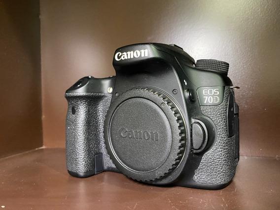 Câmera Canon Eos 70d Dslr Somente Corpo 6920 Clicks