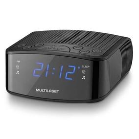 Rádio Relógio Com Função Backup Display Led Fm 3w Rms Alarme