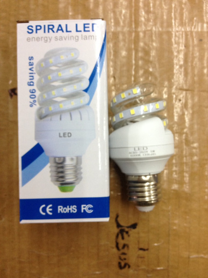Bombillo Ahorrador Led 5w Espiral 110-220v Efficient Led