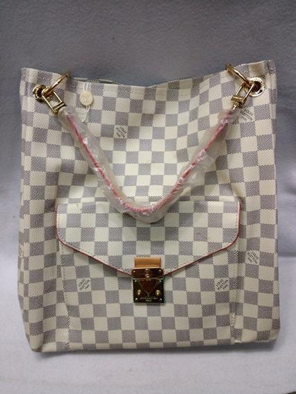 Bolsa Hobo Lous Vuitton Métis Damier Azur