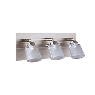 Aplique Baño Inoxidable Pared 3 Luces Vidrio Platil G9 Led