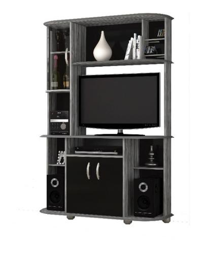 Rack Tv Modular Led Lcd Muebles Living Modelo Lisboa 3265