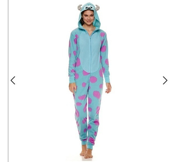 Pijama Mameluco Disfraz Mujer Sully Sullivan Monsters Inc.