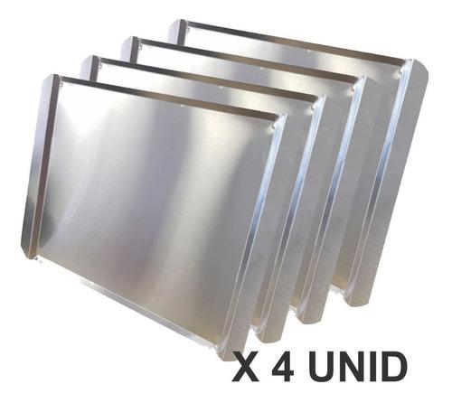 Bandeja De Aluminio Plana 44 X 32 Cm Espesor 1 Mm Para Horno Convector Modelos Pauna Silcook Moretti