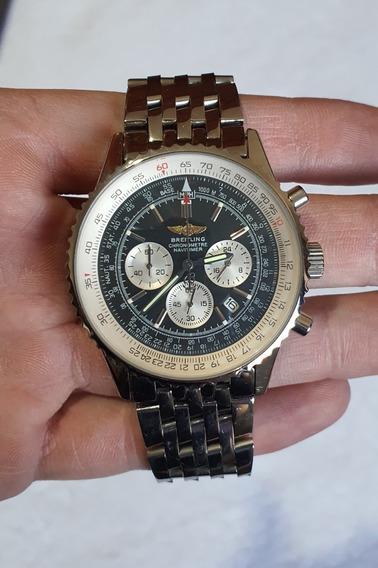 Relógio Breitling Navitimer Pulseira De Metal E De Couro