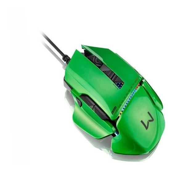 Mouse Multilaser Gamer Warrior Armor 54 Combinações 8200 Dpi