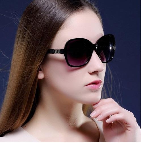Oculos De Sol Luxo Vintage Lente Polarizada Preto Cod10