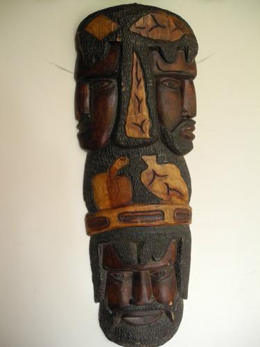 Tallado Madera Guerrero Suriname Una Pieza De Coleccion