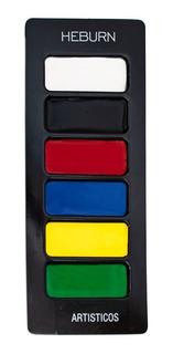 Heburn Paleta Maquillaje Artistico Profesional 6 Colores 950