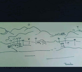 Tarsila Do Amaral -paisagem Mirante - Desenho A Bico De Pena