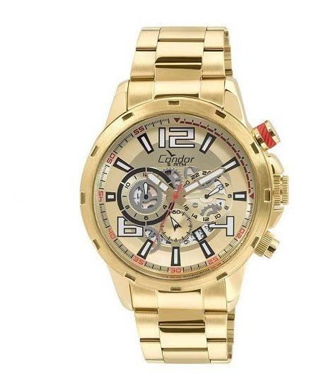Relógio Condor Masculino Dourado Analógico Covd33az/4d