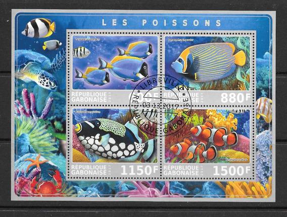 Gabon Africa 2017 Peces De Arrecifes Coral Hb Pde Cto