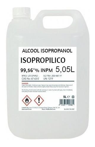 Alcool Isopropilico 5l Limpa E Lava Placa 5 Litros Barato - Frete Gratis
