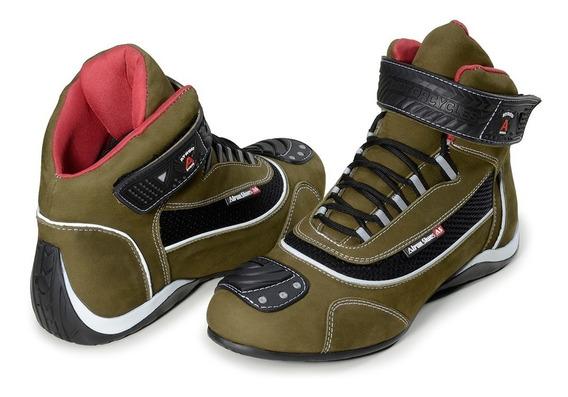Tênis Motociclista Atron Shoes Refletivo Cano Alto 310 + Pro
