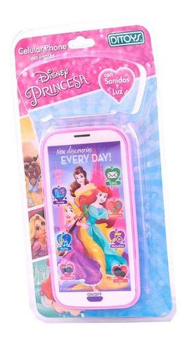 Imagen 1 de 5 de Celular Princesas 3d Con Sonido Disney Ditoys En Ingles