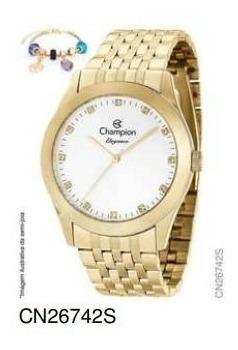 Relógio Champion Analógico Cn26742s Feminino + Semijoia