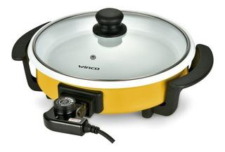Sarten Electrica Olla Multifuncion Ceramica Winco W53 Grill
