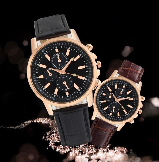 Relógio Masculino Social Luxo Casual Moderno Pulseira Couro