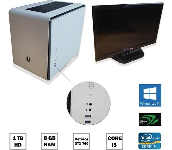 Kit Pc Gamer + Monitor Tv Lg 22