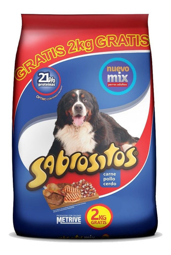 Imagen 1 de 2 de Sabrositos Adultos Mix De Carne 16kg Mas Envio