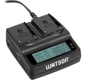 Carregador Watson Duplo Novo Para Canon E Sony Np Lp