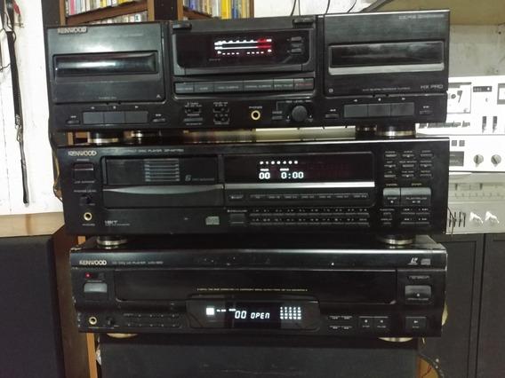 Conjunto Kenwood Deck Double Kx4060, Lvd-320, Dp-m7750 Raro
