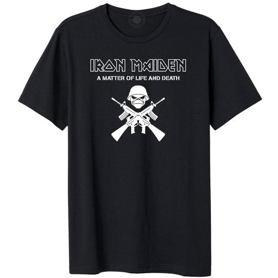 Camisa Camiseta Iron Maiden Banda Rock