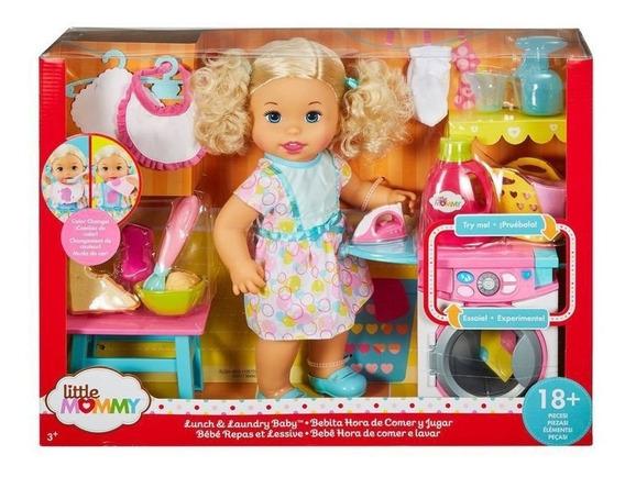 Boneca Little Mommy Hora De Comer E Lavar - Flc04 - Mattel