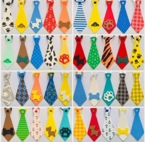 Kit Pet Shop Com 100 Gravatas Pet Coloridas - Eva
