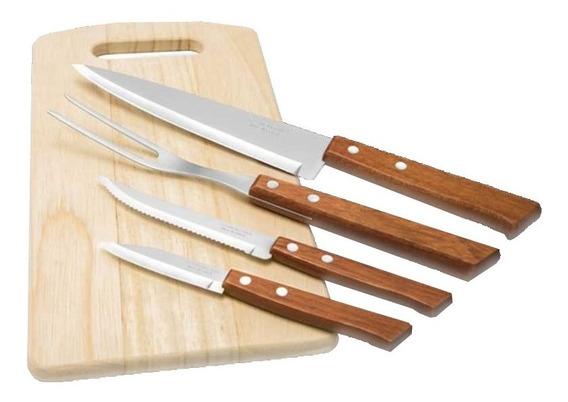 Juego De Cuchillos Naturalle Pulido Cocina 5 Pzs Tramontina