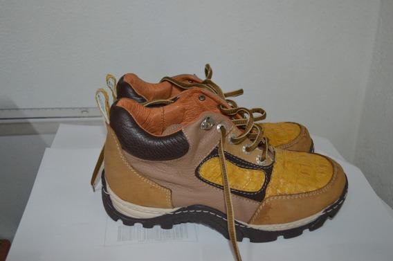 Zapatos De Piel Exotica - 500 Miel